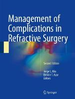 Management of Complications in Refractive Surgery by Jorge L. Alio