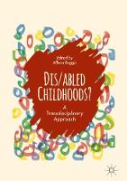 Dis/abled Childhoods? A Transdisciplinary Approach by Allison Boggis