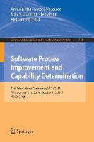 Software Process Improvement and Capability Determination 17th International Conference, SPICE 2017, Palma de Mallorca, Spain, October 4-5, 2017, Proceedings by Antonia Mas