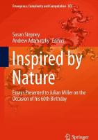 Inspired by Nature Essays Presented to Julian Miller on the Occasion of his 60th Birthday by Susan Stepney