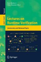 Lectures on Runtime Verification Introductory and Advanced Topics by Ezio Bartocci