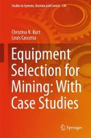 Equipment Selection for Mining: With Case Studies by Christina N. Burt, Louis Caccetta