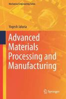 Advanced Materials Processing and Manufacturing by Yogesh Jaluria