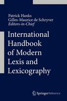 International Handbook of Modern Lexis and Lexicography by Patrick Hanks