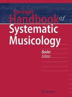 Springer Handbook of Systematic Musicology by Rolf Bader