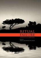 Ritual Failure Archaeological Perspectives by Vasiliki G. Koutrafouri