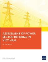 Assessment of Power Sector Reforms in Viet Nam Country Report by Asian Development Bank