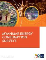 Myanmar Energy Consumption Surveys by Asian Development Bank