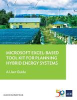Microsoft Excel-Based Tool Kit for Planning Hybrid Energy Systems A User Guide by Asian Development Bank