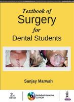 Textbook of Surgery for Dental Students by Sanjay Marwah