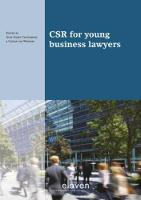 CSR for young business lawyers by Alex Geert Castermans