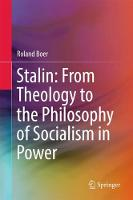Stalin: From Theology to the Philosophy of Socialism in Power by Roland Boer