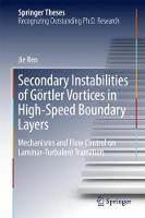 Secondary Instabilities of Gortler Vortices in High-speed Boundary Layers Mechanisms and Flow Control on Laminar-turbulent Transition by Jie Ren