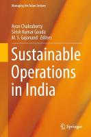 Sustainable Operations in India by Ayon Chakraborty