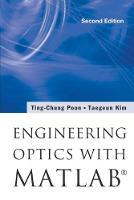 Engineering Optics With Matlab (R) by Taegeun Kim, Ting-Chung Poon