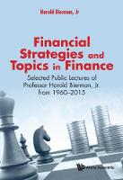 Financial Strategies And Topics In Finance: Selected Public Lectures Of Professor Harold Bierman, Jr From 1960-2015 by Jr, Harold (Cornell Univ, Usa) Bierman