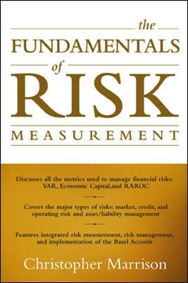 The Fundamentals of Risk Measurement by Christopher Marrison
