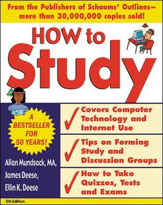 How to Study 5/e by Allan Mundsack, James Deese, Ellin K. Deese