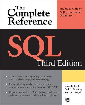 SQL The Complete Reference by James R. Groff, Paul N. Weinberg, Andy Oppel