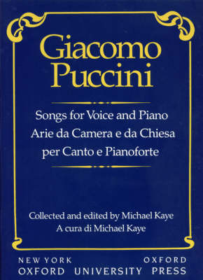 Songs for voice and piano by Giacomo Puccini