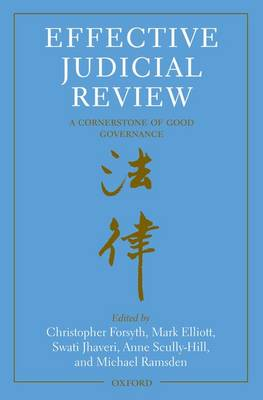 Effective Judicial Review A Cornerstone of Good Governance by Christopher Forsyth