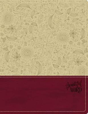 KJV, Beautiful Word Bible, Leathersoft, Tan/Pink, Red Letter Edition 500 Full-Color Illustrated Verses by