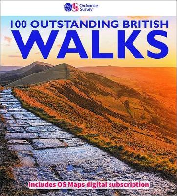 Book Cover for 100 Outstanding British Walks by Ordnance Survey