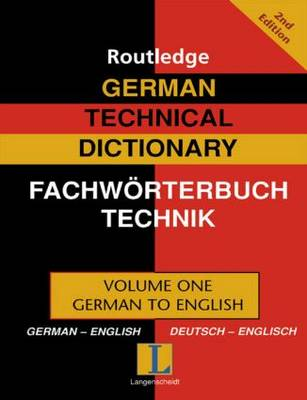 German Technical Dictionary by Robert Dimand