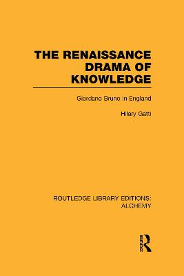 The Renaissance Drama of Knowledge Giordano Bruno in England by Hilary Gatti