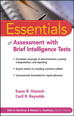 Essentials of Assessment with Brief Intelligence Tests by Susan R. Homack, Cecil R. Reynolds