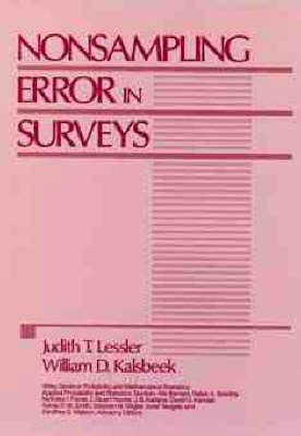 Nonsampling Error in Surveys by Judith T. Lessler, William D. Kalsbeek