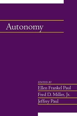Autonomy: Volume 20, Part 2 by Ellen Frankel Paul