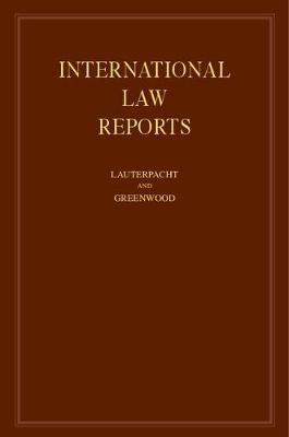 International Law Reports by E. (Trinity College, Cambridge) Lauterpacht