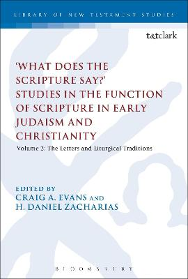 'What Does the Scripture Say?' Studies in the Function of Scripture in Early Judaism and Christianity Volume 2: The Letters and Liturgical Traditions by Craig A. (Acadia Divinity College, Canada) Evans