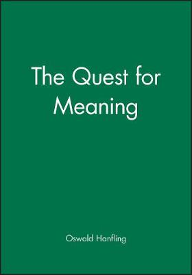 The Quest for Meaning by Oswald Hanfling
