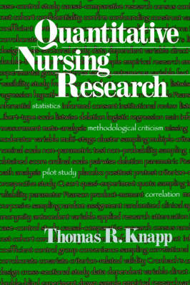 Quantitative Nursing Research by Thomas R. Knapp