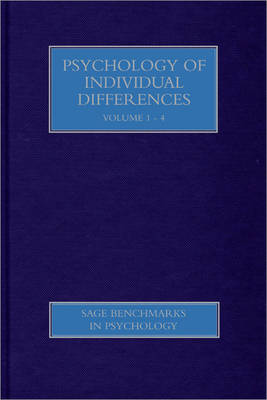 Psychology of Individual Differences by Gregory J. Boyle