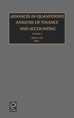 Advances in Quantitative Analysis of Finance and Accounting by Cheng-Few Lee