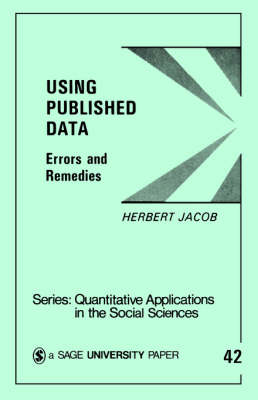 Using Published Data Errors and Remedies by Herbert Jacob