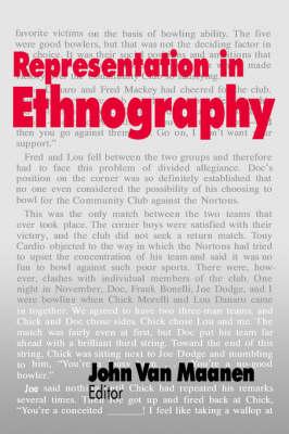 Representation in Ethnography by John Van Maanen
