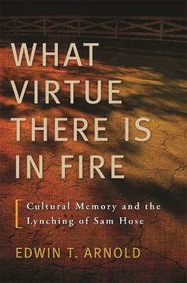 What Virtue There Is In Fire Cultural Memory and the Lynching of Sam Hose by Edwin T. Arnold