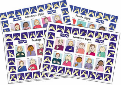 Let's Sign: BSL Poster/Mats A4 Set of 4 Poster/Mats by Cath Smith