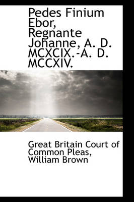 Pedes Finium Ebor, Regnante Johanne, A. D. MCXCIX.-A. D. MCCXIV. by Great Britain Court of Common Pleas
