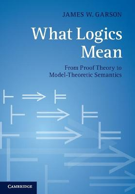 What Logics Mean From Proof Theory to Model-Theoretic Semantics by James W. Garson