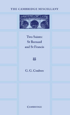 Two Saints St Bernard and St Francis by G. G. Coulton
