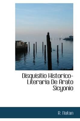 Disquisitio Historico-Literaria de Arato Sicyonio by R Natan