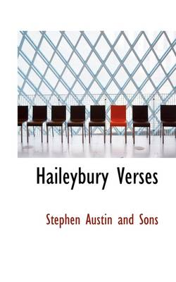 Haileybury Verses by Stephen Austin and Sons