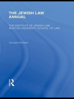 The Jewish Law Annual by Berachyahu Lifshitz