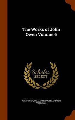 The Works of John Owen Volume 6 by Associate Professor John, (Au (University of Virginia) Owen, William H Goold, Andrew, (Ch (Consultant Obstetrician and Thomson