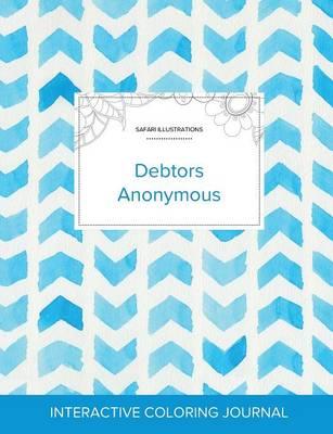Adult Coloring Journal Debtors Anonymous (Safari Illustrations, Watercolor Herringbone) by Courtney Wegner